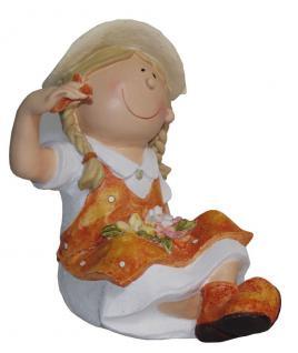 Niedliche Dekofigur Mädchen sitzend, Gartendeko, Skulptur, Figur, Statue, Deko