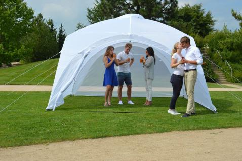 Event-Pavillon 4x4 m, Partyzelt, Sonnenschutz, Eventzelt, Pavillon, weiß
