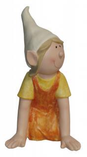 Niedliche Dekofigur Mädchen knieend, Gartendeko, Skulptur, Figur, Deko, Statue