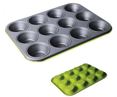 Muffinform für 12 Muffins, lime, Muffinbackblech, antihaftbeschichtet, 27 x 35 cm