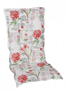 Sesselauflage, Auflage für Gartenstuhl, Blumenmuster, 105x50x6 cm, 287217