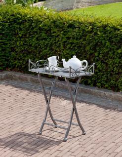 Beistelltisch, Dekotisch, Terrassentisch, Gartentisch, klappbar, Tabletttisch