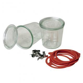 Einkochglas Weck Sturzform Rundrandglas Einmachglas 4 Stück á 0, 5 Liter