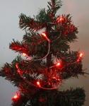 3er Set LED-Lichterkette mit je 10 roten Leuchten, Batteriebetrieb, Dekoration