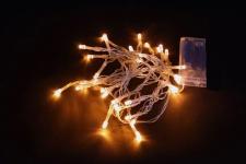 5er-Set LED-Lichterkette mit je 10 Leuchten, warmweiss, Batteriebetrieb, NEU