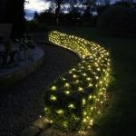 LED Lichternetz 160 LED´s warmweiß Lichtervorhang In-& Outdoor 200x100cm NEU