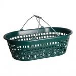 Universalkorb Kunststoff oval 15 kg grün, Garten Laub Ernte Obst Kartoffel Korb