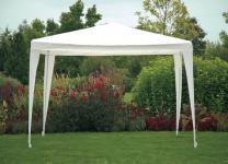 Pavillon, Gartenzelt, Sonnenschutz, Partyzelt weiss 3x3m