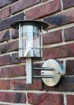 Edelstahl Außenlampe Solarleuchte Wandleuchte Solarleuchte 6 helle Power LED's