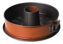 Springform mit Rohrboden, Ø 26 cm, orange, antihaft, Kuchenbackform, Kuchenform