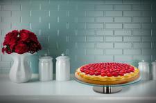 Tortenplatte, Tortenständer, drehbare Servierplatte, Patisserie Glas Ø 30 cm