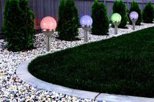 4er Set Premium Solarlampe LED RGB Farbwechsel Edelstahl Gartenkugel