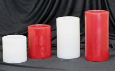 LED- Echtwachskerze rot oder weiß in versch. Größen, mit Luft-Sensor, LED-Kerze