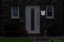 Solar Hausnummer mit 4 LED´s, Edelstahl, Hausnummernleuchte, Außenbeleuchtung