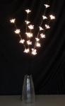LED-Blütenzweig, Lichterzweig, Blumenzweig, Blütenzweig mit 20 warmweißen LED´s