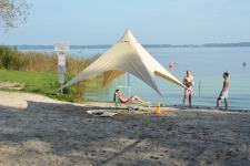 Strandzelt 4, 5 x 4, 5 x 3, 3(H)m, beige, Partyzelt, Sonnensegel, Pavillon, Tarp