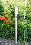 Standleuchte Standlampe Außenleuchte Edelstahl mit IF Bewegungsmelder Höhe 110cm