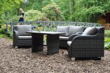 Loungeset 4-teilig, Wohnset, Sitzgruppe, Gartenmöbel, Gartenlounge, Terrasse