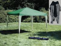 Pavillon 3x3 m, faltbar, grün/weiß, Gartenpavillon, Partyzelt, Gartenzelt