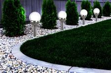 4er Set Kristallglas Premium Solarlampe Leuchte LED Edelstahl Gartenkugel