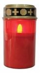 LED Grablicht mit flackereffekt Betriebsdauer bis zu 1200 Std inkl. Batterien