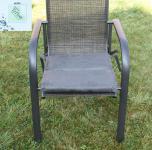 Sitzkissen anthrazit Mikrofaser Auflage Sitz Sessel Gartenstuhl 44 x 45 x 6 cm