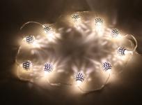 Lichterkette LED mit 10 Kugeln, warmweiß, Batteriebetrieb, Weihnachtsdekoration