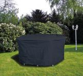 Möbelschutzhülle Schutzhaube für Tische Gartenmöbel bis 160x95cm oval anthrazit