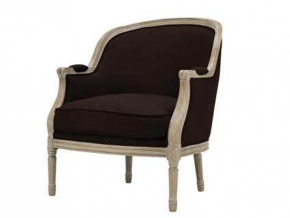 sessel stoff barock alienor braun kaufen bei kauf. Black Bedroom Furniture Sets. Home Design Ideas