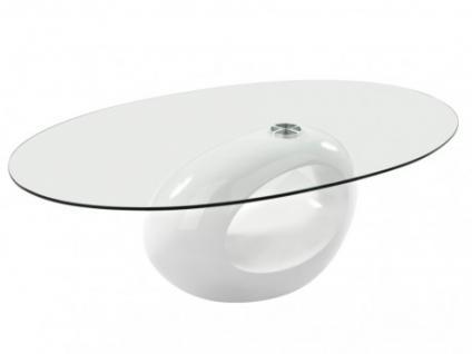 Couchtisch Glas Pebble - Weiß