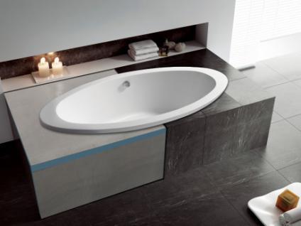 Sparset: Badewannenverkleidung befliesbar zur Selbstgestaltung Kimolos für Eckbadewanne - 1 Seiten- & 1 Frontschürze