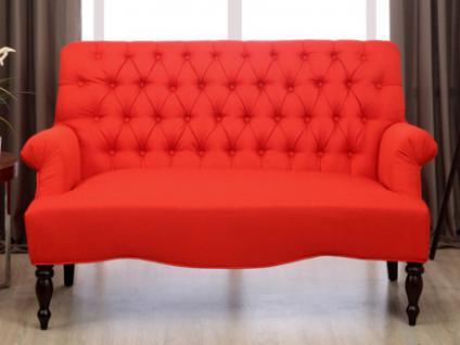 2-Sitzer-Sofa Stoff Barock Manifia - Rot