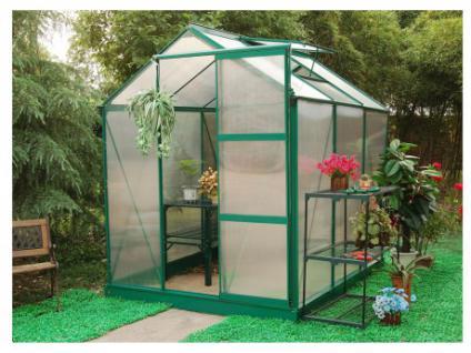 Garten Gewächshaus Aluminium Greenline - 4, 5 m²