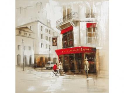 Kunstdruck Öl auf Leinwand Paris II - 100x100cm