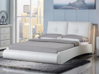 Sparset Bett BERTIN + Lattenrost - 180x200 cm - Weiß