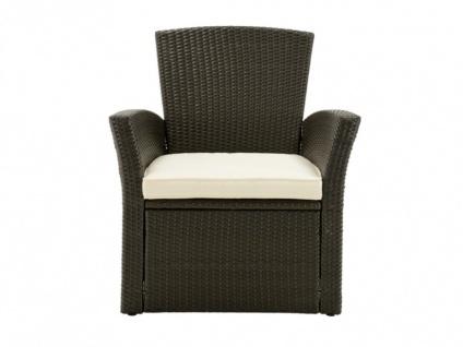 Polyrattan Lounge Sitzgruppe Arequipa (4-tlg.) - Braun - Vorschau 4