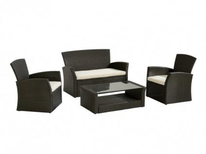 Polyrattan Lounge Sitzgruppe Arequipa (4-tlg.) - Braun - Vorschau 3