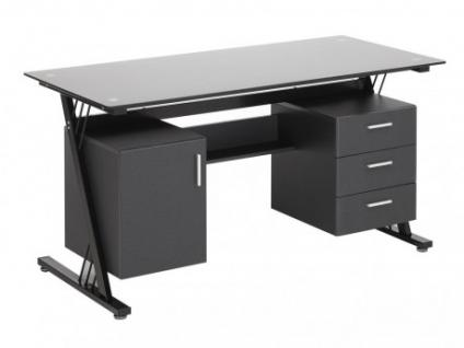 Glas design schreibtisch g nstig kaufen bei yatego for Schreibtisch glas