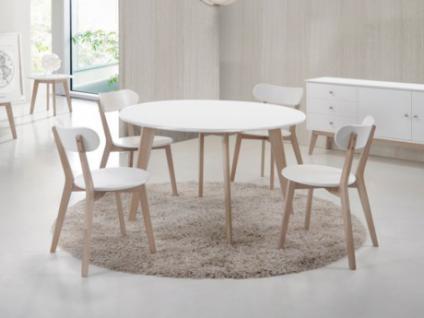 esstisch rund weiss holz g nstig kaufen bei yatego. Black Bedroom Furniture Sets. Home Design Ideas