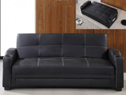 schlafsofa mit bettkasten schwarz kaufen bei yatego. Black Bedroom Furniture Sets. Home Design Ideas