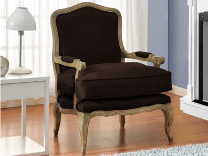 sessel stoff barock mahaux braun kaufen bei kauf. Black Bedroom Furniture Sets. Home Design Ideas