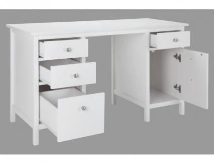 Schreibtisch Landhaus Stil Holz Albane - Vorschau 5