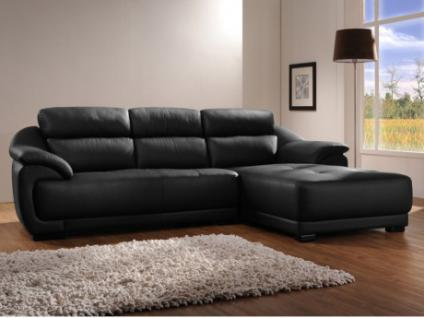ledersofa schwarz g nstig online kaufen bei yatego. Black Bedroom Furniture Sets. Home Design Ideas