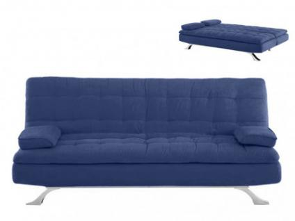 Schlafsofa Klappsofa Microfaser Miami - Blau