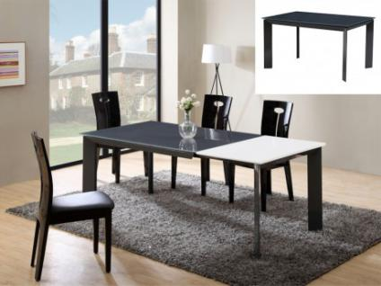 esstisch glas ausziehbar g nstig kaufen bei yatego. Black Bedroom Furniture Sets. Home Design Ideas