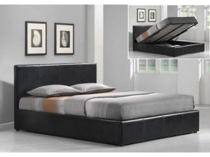 Polsterbett mit Bettkasten Tremplin - 160x200cm - Schwarz