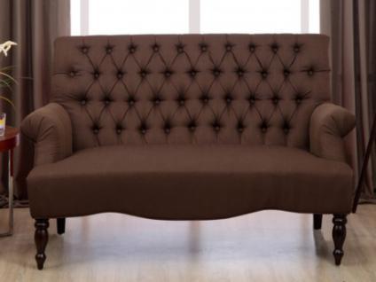 2-Sitzer-Sofa Stoff Barock Manifia - Braun