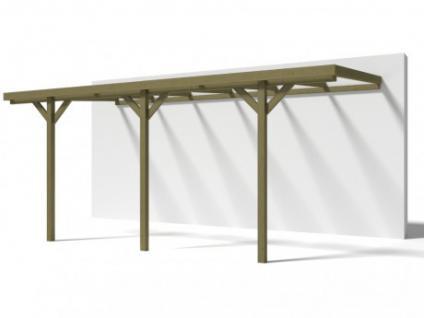 Carport Wandanbau Flachdach Holz Lexis - 300x524cm (15, 72m²)