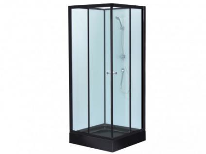 Eckdusche Glas Talia - Schwarz