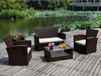 Polyrattan Lounge Sitzgruppe Arequipa (4-tlg.) - Braun - Vorschau 2